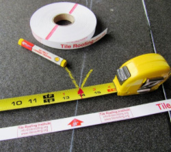 some tools including a tape measurer